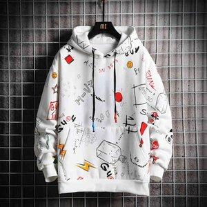 Hoodie Sweatshirt Mens Casual Pullover Hoodi Printing Male Hip Hop Streetwear Hooded Tracksuits 2021 Autumn New Trend Cloth