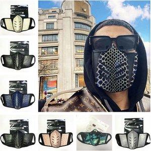 Unisex Cartoon Face Mask Ostrich Skin Design Dispolvere Anti-Fog S Uomo Donne PU in pelle Moda Modo Cover Protettivo 18 Colore