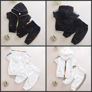 New Boys Outfits 6M-4T Girls Clothes Childrens Clothing Suits Zipper Top Cotton Pants Suit 2pcs Clothing Sets Kids Clothes 467 Y2