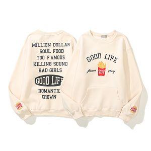 21SS KANYE GUTE LIFE Gebratene Hoodie Brief Stickerei Sweatshirt Streetwear Koreanische Mode Hiphop Kpop Kleidung Merch Männer Frau Kleidung