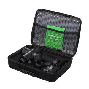 Массажное оружие электрические портативные беспроводные тканевые массажер для мышц глубоко релаксации 20 скоростей перкуссионного устройства ЖК-экран