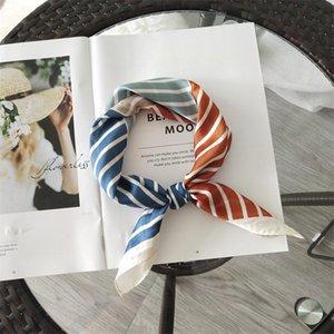 The Selling Japanese And Korean Striped Kitten Flower Pattern Cute Simple Elegant Fashionable Scarf Headkerchief Bandanas
