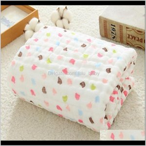 Quilts Muslin Blankets Swaddling 100 Cotton Swaddle Wrap For Born Babies 6 Layer Bath Towel Blanket Baby Bedding Lj200819 1Amdq Ri3H0