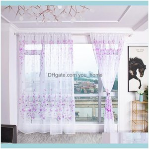 Deco El Supplies Home Gardentrees Sheer Curtain Tulle Window Treatment Voile Drape Valance Fabric Curtains For Bedroom Cortinas Para La Sala