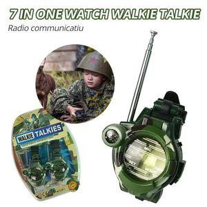 Walkie Talkie 2PCS Children's Watch Toy Multifunctional 7 In 1 Camouflage 2 Way Radio Mini Gift
