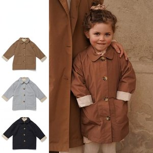 Coat Girls Windbreaker Long 2021 Autumn Winter KS Brand Boy Trench Outwear Baby Toddler Jacket Child Kids Clothes Outerwear