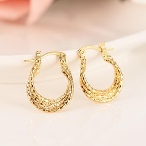 Africa Earrings For Women Gold Color Hoop Huggies Ethiopian Jewelry Arab Middle East Girls Earring KIDS Gift & Huggie