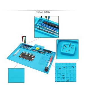 Insulation Silicone Soldering Repair Mat Heat Resistant Work Pad For Mobile Phone PCB BGA Iron Cell Repairing Tools
