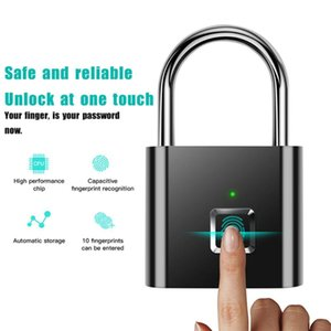 Fingerprint ID Smart Padlock Micro USB Charging Travel Item Protection Anti-theft Luggage Cabinet Drawer Locker 40 Fingerprints Access Contr