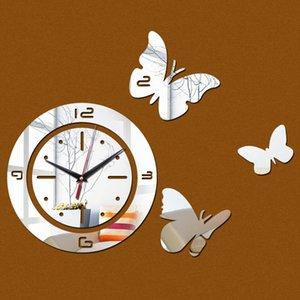 Wall Clocks Diy 3d Acrylic Mirror Clock Watch Reloj Pared Duvar Horloge Murale Quartz Living Roo