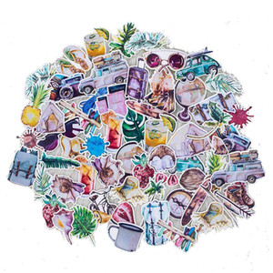 70 Pieces of Water-proof Stickers for Animals, Plants and Flowers in Summer