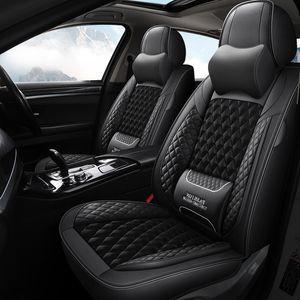 Assento de carro de luxo Capas completas com couro PU À Prova D 'Água PU, Airbag Compatível Compatível Automotivo Coxim Capa Universal Fit a maioria dos carros
