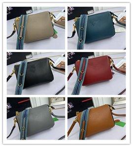 Дизайнер Роскошная Zip Camera Сумка Vitello Daino Crossbody Сумка Кожаная сумка на плечо Размер: 21-15-9см