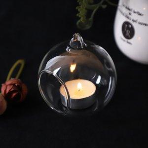 60 мм висит держатель Tealight Globes Globes Terrarium Wedding Holder Candlestick Vase Home Bar Bar Украшение AHC3527 530 R2