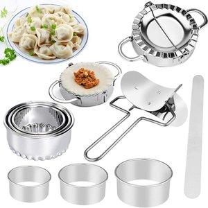 Dumpling Maker Set Press Cutter Stampa Stampo Utensili da cucina in acciaio inox Pasta Pasta rullo Empanadas Stampo Accessori da cucina