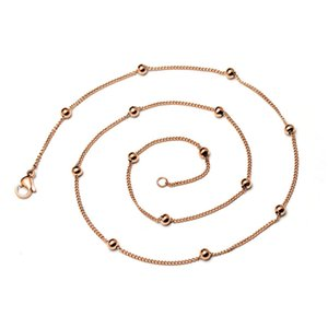 Pendant Titanium steel 316L rose gold 0.4 side body bag clavicle versatile Necklace bead chain colorfast p130