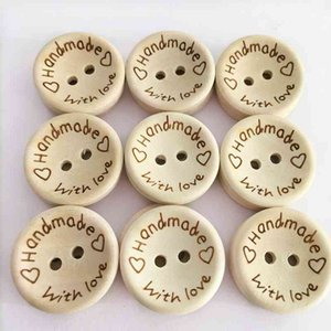 100Pcs Lot Wooden Buttons Clothing Decoration Wedding Decor Handmade Letter Love DIY Crafts Scrapbooking For Sewing Accessories