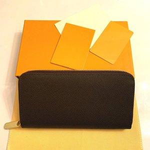 Новейшие сумки кошелек сумки мужчины Zippy кошелек натуральная кожа сумка дизайнер кошелек женский кошелек муфты верхняя клатч леди Tote с коробкой