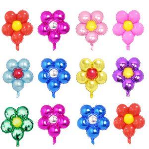 Flor Folha Balões Folha Folha Baloon Festa de Aniversário Decorações Decorações Party Sobretos Globos Baby Chuveiro Meninas Brinquedos 1957 v2
