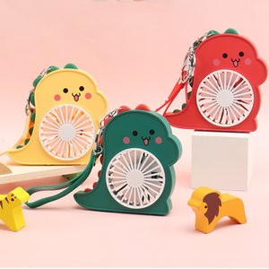 USB Fan Cartoon Keychain Charm Mini Portable With Rechargeable Battery Led Light Small Desk Fans handheld Air Cooler Conditioner for Room