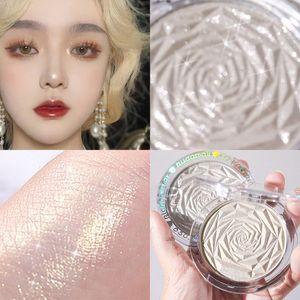 Hudamoji 6 Colors Highlighter Powder Glitter Palette Makeup Glow Face Contour Shimmer Illuminator Ginger Highlight Cosmetics 1234