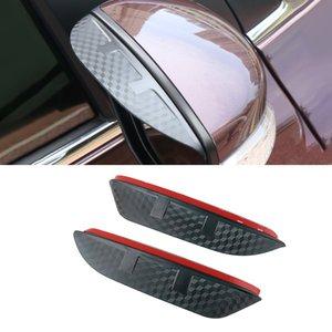 For Nissan Sylphy 2006-2021 Auto Car Side Rear View Mirror Rain Visor Carbon Fiber Texture Eyebrow Sun Shade Guard Cover