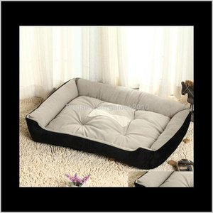 Kennels Pens Supplies Home & Garden Drop Delivery 2021 Winter Warm Puppy Big Bed Kennel Cozy Cotton Pet Dog Beds For Small Medium Large Dogs