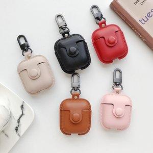 Adequado para Apple Airpods2 Casos de proteção de couro Airpods Pro 3 Geração Bluetooth Headset Caso