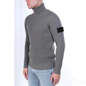 Designer Mens Maglioni 2020 autunno inverno uomo maglione maglione retrò maglione moda alto colletto confortevole Asian Size Braccio ricamo ponticelli