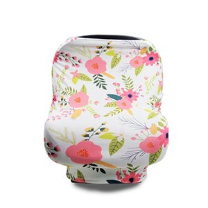 31 styles INS Floral Stretchy Cotton Baby Nursing Cover breastfeeding cover Stripe Safety seat car Privacy Cover Scarf Blanket 673 Y2