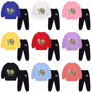 Autumn Winter Cartoon Cocomelon Children's Tracksuit JJ Boys Baby Loose Long Sleeve Sweatshirts + Pants Two-piece Suit Casual Sports Clothes G97LOAN