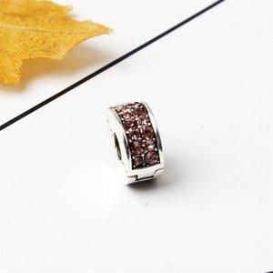 Fit Pandora Sterling Silver Bracelet Charms Stopper Beads Spacer Elegant Bead Clip Locks Fit Charm Biagi Bracelets Jewelry DIY 1120 Q2
