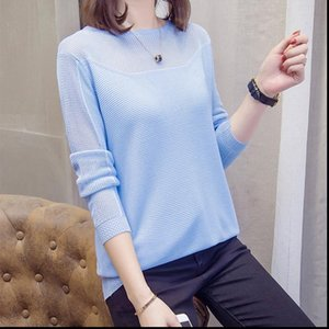 Plus Size Womens Sweater Hollow Out Women Pullovers Autumn Fashion Korean loose Chic Knit Tops Oversize Ladies Knitwear Jumper