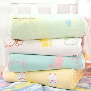 Summer Baby thin Quilt Newborn Comforter Baby Six-layer Gauze Bath Towel For Children Baby Blankets(size 80*80) 1551 Y2