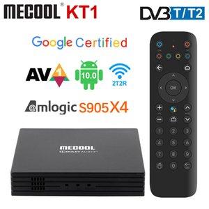 MECOOL KT1 KIII Pro DVB T2 Amlogic S905X4 Android TV 10 DVB-T2 Set Top Box 2GB 16GB AV1 BT 4.2 WiFi 2.4G 5G LAN Dolby TV Box