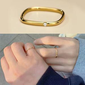 925 Silver Plain Ring Fashion Design Temperament Index Finger Simple Net Red Trend Female F791