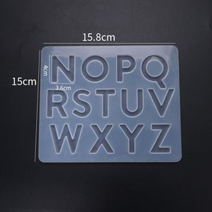1Pcs English Alphabet Resin Molds Silicone Number Letter Epoxy Resin Mold Letter Moulds For DIY Jewelry Making Findings 1488 Q2
