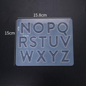 1 Pz Inglese Alfabeto Stampi in resina in silicone Numero di silicone Lettera Epossidica Resina Stampi per la lettera Stampi per gioielli fai da te Fare risultati 1488 Q2