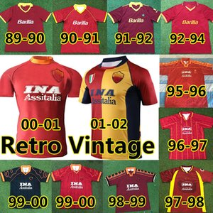 88 89 90 91 92 93 94 95 96 97 98 99 ROMA retro soccer jerseys 00 01 02 TOTTI BATISTUTA Candela Montella shirt 2002 Maglia da NAKATA