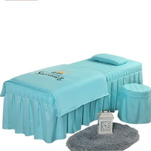 High Quality Beauty Salon Bedding Set Thick Bed Linens Sheets Bedspread Fumigation Massage Spa Pillowcase Duvet Cover Sets1 469 V2