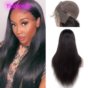 13X4 Lace Front Wig Body Wave Silky Straight Deep Wave Peruvian Human Hair 10-36inch 180% density Kinky Curly Water Waves Natural Color Wholesale