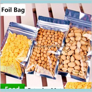 Borse di imballaggio Office School Business Industrial 24x37cm Traslucido Imballaggio a prova di odore a prova di odore con borse mylar in alluminio Pellicola con zip