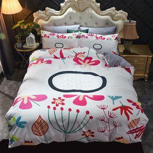 Soft Bedding Sets Four Piece Letter Printed Warm Plush Bedclothes Twin Double Size Quilt Cover Pillowcase