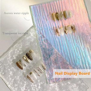 Nail Art Equipment 1Pcs Colorful Display Stand Transparent Acrylic Showing DIY Practice Board Background Card Prop
