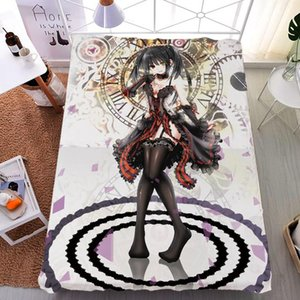 Sheets & Sets Coscase Japanese Anime DATE A LIVE Itsuka Kotori Tokisaki Kurumi Milk Fiber Bed Sheet Flannel Blanket Summer Quilt 150x200cm