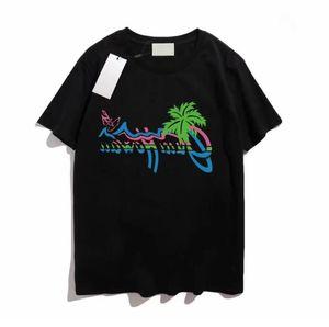 2021 Мужская T-Рубашка Европейская Американская Печать Мужчины Женщины Пары Футболка Размер S-5XL