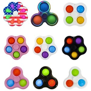 Spinner Push Pop Alloy ABS Fidget Hand Toy Fingertip Gyro Antistress For Kids and Adults Educational Toys Anti Stress