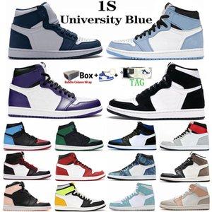 nike jordan 1 retro air jordan 1 Bio Hack Royal Toe Pine Green 1s Uomo Donna Scarpe da basket Court Purple Obsidian 1 UNC Tie Dye Luck Green Sports Sneakers
