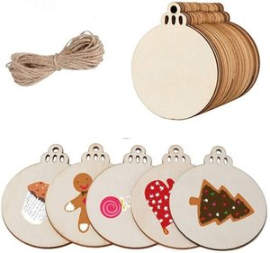 60 Blank Christmas Tree Pendants Ornaments for Holiday Decoration and DIY Craft Making,Gift Tags & Hanging Decor Embellishments