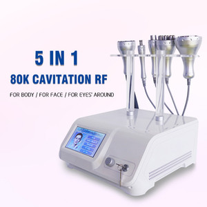 80k powerful ultrasound slimming radio frequency vacuum fat cavitation weight loss 5 in 1 multifunction machine